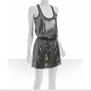 New! Michael Kors Nickel Sequins Tank Dress